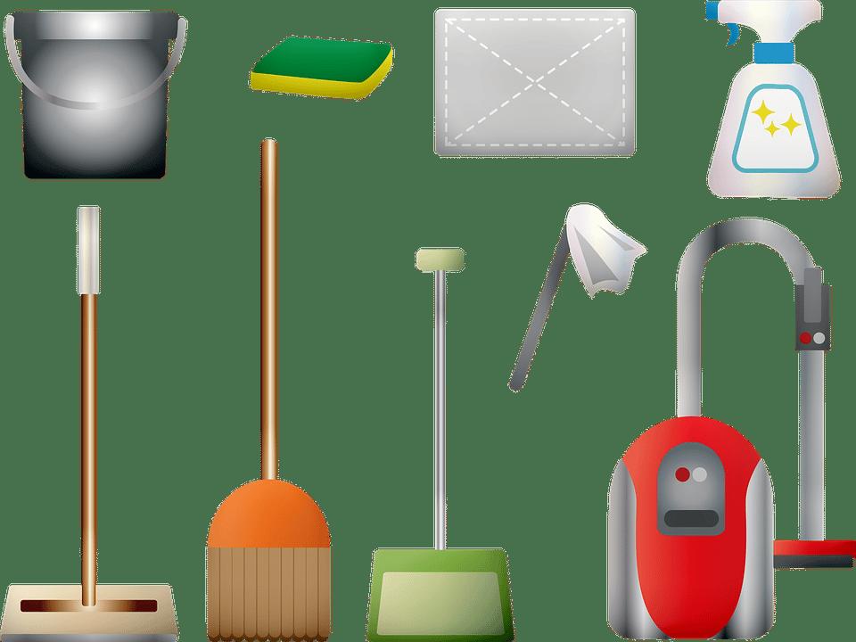 matériels pour nettoyer maison